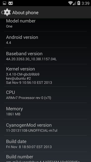 HTC ONE手机Android 4.4系统升级固件CyanogenMod 11测
